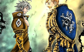 Wallpaper sugoi, strong, sinner, Knight, taichou, medieval knight, The Seven Deadly Sins, european, dragon, anime, red, ...