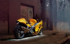 Picture Suzuki, Hayabusa, Yellow, Sportbike, GSXR