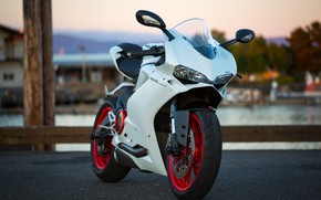 Picture white, design, motorcycle, Ducati