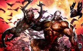 Picture blood, people, mask, monsters, zombies, maniac, Splatterhouse