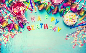 Picture balls, colorful, candy, sweets, Happy Birthday, colours, confetti, celebration, candy, decoration, Birthday