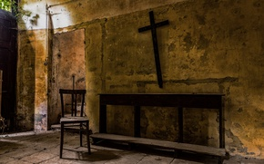 Picture background, cross, chair