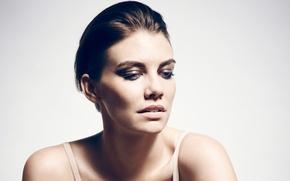 Picture background, model, portrait, makeup, actress, brunette, hairstyle, beauty, 2014, Lauren Cohan, Lauren Cohan, Contentmode, Mary …