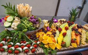 Picture greens, berries, cheese, fruit, cutting