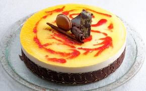 Picture chocolate, cake, cake, cream, dessert, sweet, chocolate, sweet, glaze