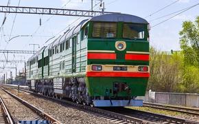 Picture railroad, locomotive, Locomotive, 2TE116