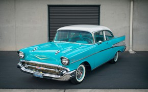 Picture retro, classic, Bel Air, Chevy, 1957