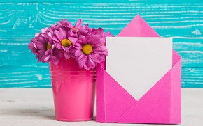 Picture flowers, the envelope, bouquet, chrysanthemum