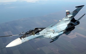 Picture Sukhoi, air refueling, the 4+generation, Su-30CM, serial upgraded, Russian double multi-purpose fighter, MA Navy