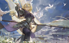 Picture girl, anime, art, fate/grand order, fate/apocrypha