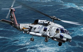 Wallpaper the basic modification of the deck, American multi-purpose helicopter, anti-submarine helicopter, Seahawk, Sikorsky, SH-60B