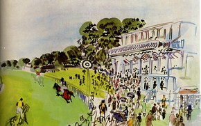 Picture New York, 1930, Raoul Dufy, Collection Abraham L. Bienstock, Races With Goodwwood, Watercolor and gouache, …