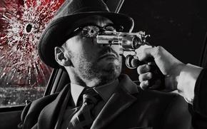 Picture shot, Gun, murder, glasses