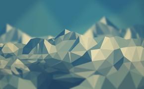 Picture mountains, blue, grey, blue, gray-blue, mounts, broken, grey-blue