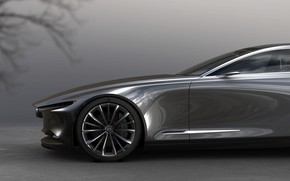 Picture Grey, Wheel, The concept, Mazda, Side, Mazda Kai, Mazda Kai