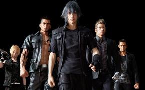 Picture cinema, wallpaper, game, Final Fantasy, black, man, boy, movie, asian, glasses, film, pose, warrior, animated …