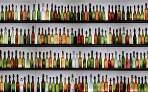 Picture background, bottle, shelves
