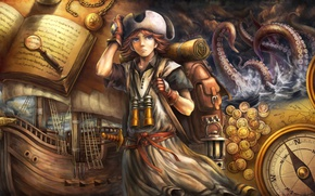 Picture sea, hat, Dragon's Crown, ceature