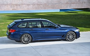 Picture lawn, BMW, Parking, plate, universal, xDrive, Touring, 530d, 5, dark blue, 2017, 5-series, G31