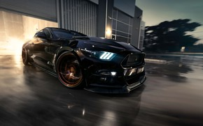 Wallpaper Mustang, Ford, Muscle, Car, Black