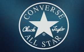 Wallpaper white, blue, star, round, logo, logo, logo, blue background, jeans, jeans, Sneakers, Firm, converse, Famous, ...