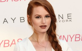 Picture look, actress, red, Madelaine Petsch