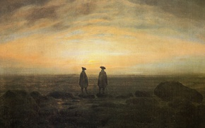 Picture picture, genre, Caspar David Friedrich, Two Men on the seafront