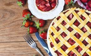 Picture berries, strawberry, pie, fresh, cake, sweet, strawberry, berries