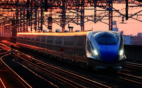 Picture dawn, train, station, cars