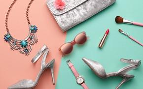 Picture summer, style, watch, lipstick, fashion, cosmetics, accessories, metallic, Evgenij918