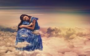 Picture clouds, Brunette, peace