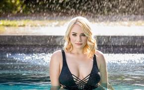 Wallpaper Bikini, Model, Girls, Women, Pool, Hadley Viscar