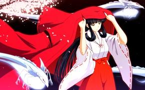 Picture Kimono, Miko, Inuyasha, Ability production