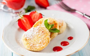 Picture strawberry, jam, cheesecake