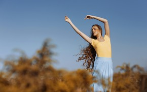 Picture girl, nature, Carmen