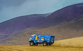 Picture Sand, Mountains, Grass, Sport, Speed, Race, Master, Dirt, Hills, Squirt, Russia, Kamaz, Rally, Dakar, Dakar, …