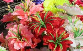 Picture beauty, artificial flowers, spring 2018, Meduzanol ©