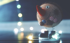 Picture Macro, New Year, Toy, Snowman, 2017