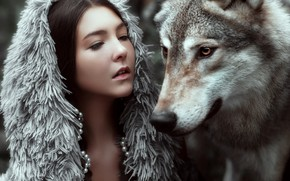 Picture face, girl, face, mood, wolf, the situation, Maria Lipina