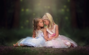 Picture children, girls, dresses, danielle balance, So tender the connection between sisters