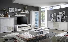 Wallpaper style, interior, living room