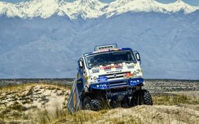 Picture Mountains, Sport, Truck, Race, Master, Russia, 500, Kamaz, Rally, Dakar, KAMAZ-master, Dakar, Rally, KAMAZ, The …