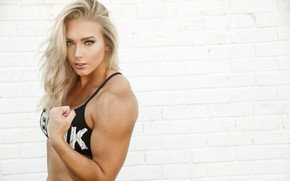 Picture muscles, blonde, pose, Charity Witt
