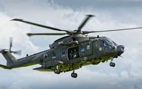 Wallpaper aviation, flight, helicopter, Merlin, AgustaWestland AW101
