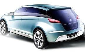 Picture design, figure, Mitsubishi, Concept-cX