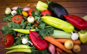 Picture greens, bow, eggplant, pepper, vegetables, tomatoes, carrots, peppers, tomatoes, vegetables, carrots