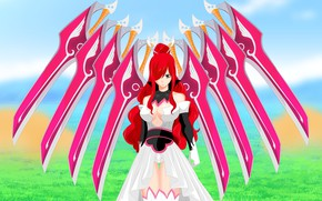 Picture anime, manga, japanese, Fairy Tail, bishojo, Erza, by sharknex