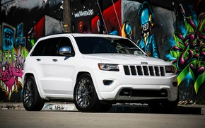 Picture lights, Grand, wheels, with, and, Jeep, Luxury, Cherokee, lowered, smoked