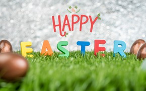Picture letters, eggs, Easter, weed, Holiday