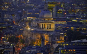 Picture England, London, panorama, St. Paul's Cathedral